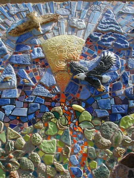 mosaic eagle