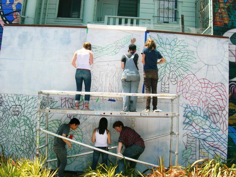 mini park mosaic process
