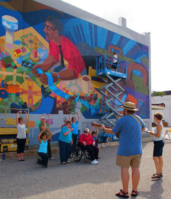 News community built association for Community mural project